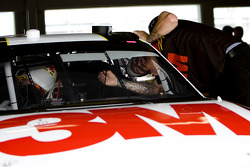 Roush Fenway Racing Ford crew member at work