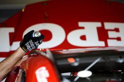 Stewart-Haas Racing Chevrolet crew member at work