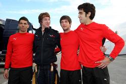 Marco Zipoli, test ediyorfor Scuderia Ferrari, Mirko Bortolotti, test ediyorfor Scuderia Toro Rosso, Daniel Zampieri, test ediyorfor Scuderia Ferrari, Pablo Sanchez Lopez, test ediyorfor Scuderia Ferrari
