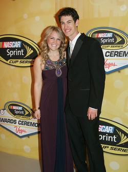 Joey Logano with his girlfriend Sabrina Simpson