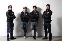 Alvaro Parente, test driver, Timo Glock, driver, Lucas di Grassi, driver, and Luiz Razia, test driver