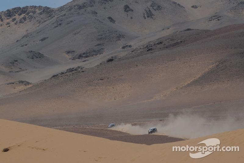 #300 Volkswagen: Giniel De Villiers y Dirk Von Zitzewitz, #312 Volkswagen: Mauricio Neves y Clecio Maestrelli