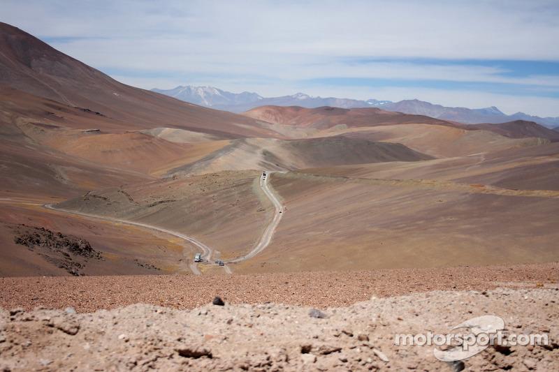 Une vue de la spéciale entre Fiambala et Copiapo