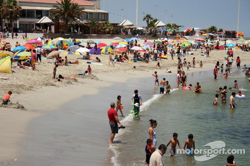 La plage d'Antofagasta