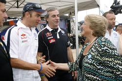 Giniel de Villiers, Carlos Sainz y Michelle Bachelet, Presidenta de Chile