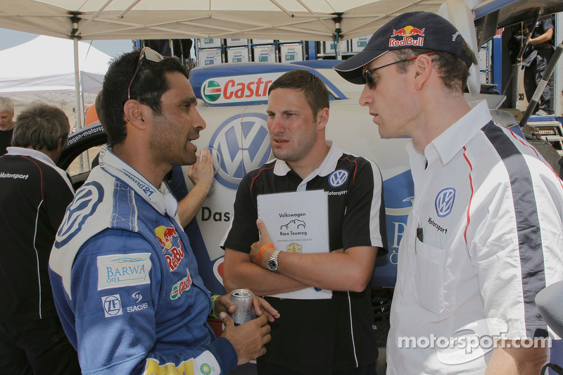 Nasser Al Attiyah, Tobias Mederer et Andreas Lautner