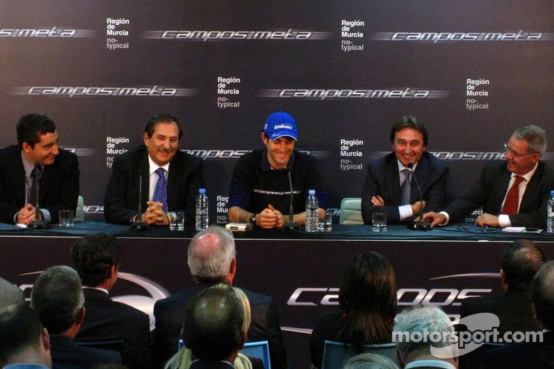 Adrian Campos presents his new driver Bruno Senna