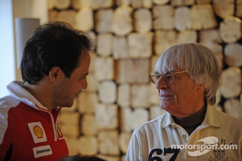 Felipe Massa avec Bernie Ecclestone