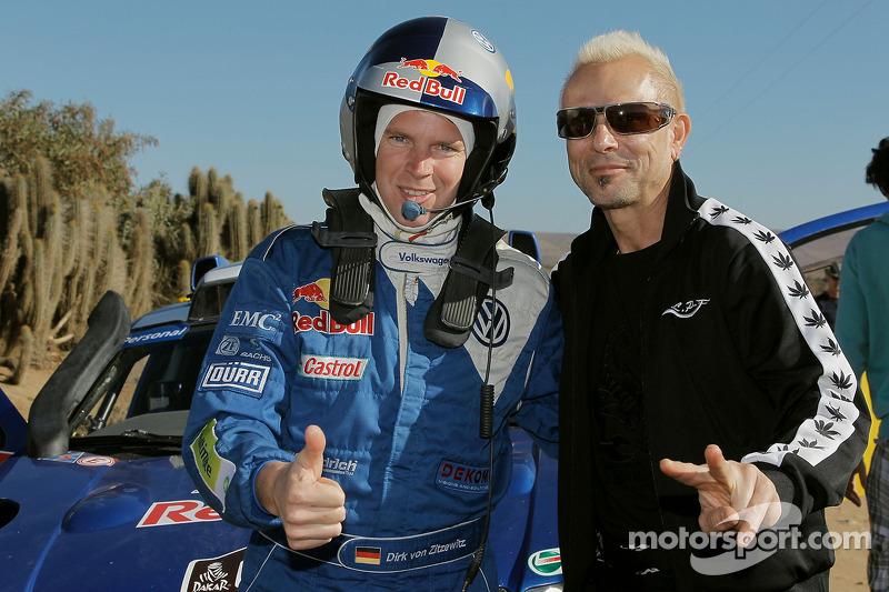 Dirk Von Zitzewitz avec Rudolf Schenker du groupe de rock Scorpions