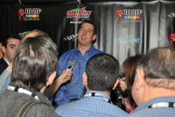 Kyle Busch addresses the media