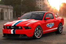 The new Ford Mustang GT, powered by the all-new 412-horsepower 5.0-liter V-8, will pace the starting field for this year's Daytona 500; this is the first Ford Mustang to pace 'The Great American Race'