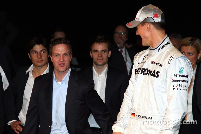 Ralf Schumacher en Michael Schumacher