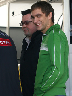 Vitaly Petrov, Test Driver, Renault F1 Team and Eric Boullier, Team Principal, Renault F1 Team