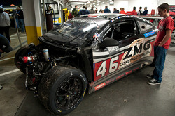 Fan view #46 Autohaus Motorsports after wreck