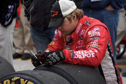 Stewart-Haas Racing Chevrolet team member after a pit stop