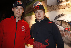 Sébastien Ogier, Citroën C4 WRC, Citroën Junior Team en Kimi Raikkonen, Citroën C4 WRC, Citroën Junior Team