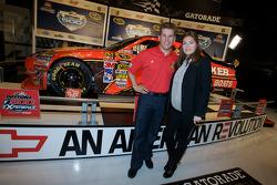 Champion's breakfast: 2010 Daytona 500 winner Jamie McMurray with wife Christy