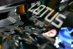 Cosworth logo in Lotus F1 Team engine cover