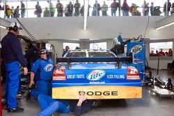 Penske Racing Dodge team members at work