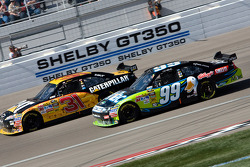 Jeff Burton, Richard Childress Racing Chevrolet and Carl Edwards, Roush Fenway Racing Ford