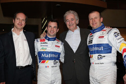 Nicolas Lapierre, Hugues de Chaunac and Olivier Panis with the ORECA-Matmut Peugeot 908 HDi FAP