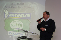 LMS press conference: Serge Grisin on stage