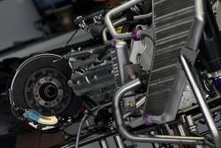 Brake system and engine detail, Renault F1 Team