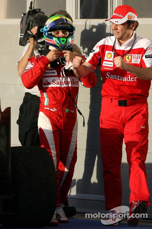 2de plaats Felipe Massa, Scuderia Ferrari en Stefano Domenicali, Scuderia Ferrari Sporting Director
