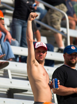 Fans cheer for their favorite drivers