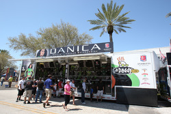Merchandising hauler for Danica Patrick, Andretti Autosport