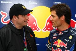 John Travolta, acteur, en Mark Webber, Red Bull Racing
