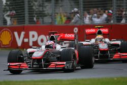 jJenson Button, McLaren Mercedes and Lewis Hamilton, McLaren Mercedes