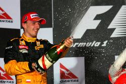 Podium: second place Robert Kubica, Renault F1 Team