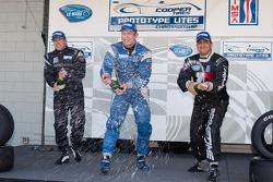 #21 Inspire Motorsports Elan DP02: Charlie Shears, #11 Primetime Race Group Elan DP02: Johnny Meriggi, #8 Primetime Race Group Elan DP02: Anthony Nicolosi