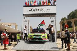 Mikko Hirvonen en Jarmo Lehtinen, Ford Focus RS WRC08, BP Ford Abu Dhabi World Rally Team, Prins Faisal