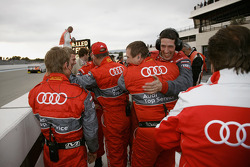 Audi Sport Team Joest team members celebrate victory