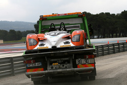 #27 Race Performance Radical SR9 - Judd on the tow truck