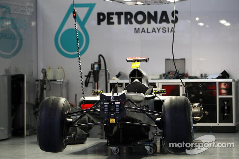 De wagen van Michael Schumacher, Mercedes GP