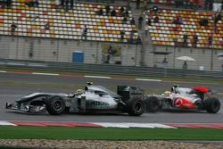 Nico Rosberg, Mercedes GP and Lewis Hamilton, McLaren Mercedes