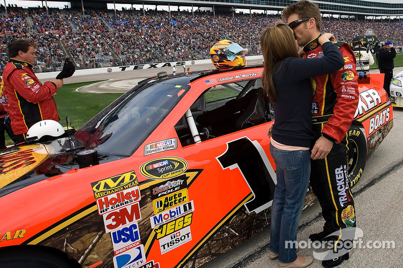 Jamie McMurray, Earnhardt Ganassi Racing Chevrolet, and his wife Christy