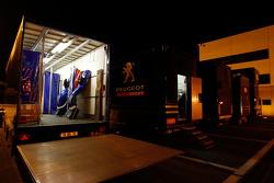 Team Peugeot Total paddock area