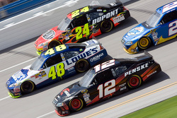 Jeff Gordon, Hendrick Motorsports Chevrolet, Jimmie Johnson, Hendrick Motorsports Chevrolet, Brad Keselowski, Penske Racing Dodge