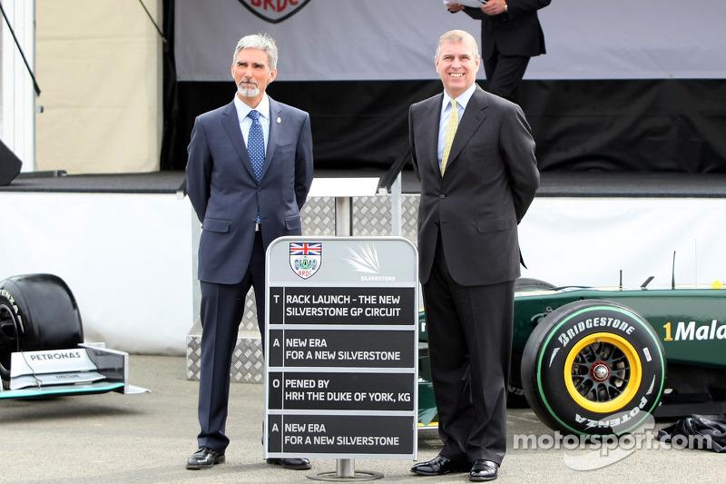 Damon Hill, BRDC President, met HRH Prince Andrew, The Duke of York