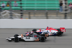 Alex Tagliani, FAZZT Racing runs with Vitor Meira, A.J. Foyt Enterprises