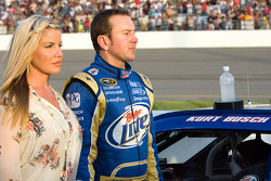 Kyle Busch, Joe Gibbs Racing Toyota with wife Eva