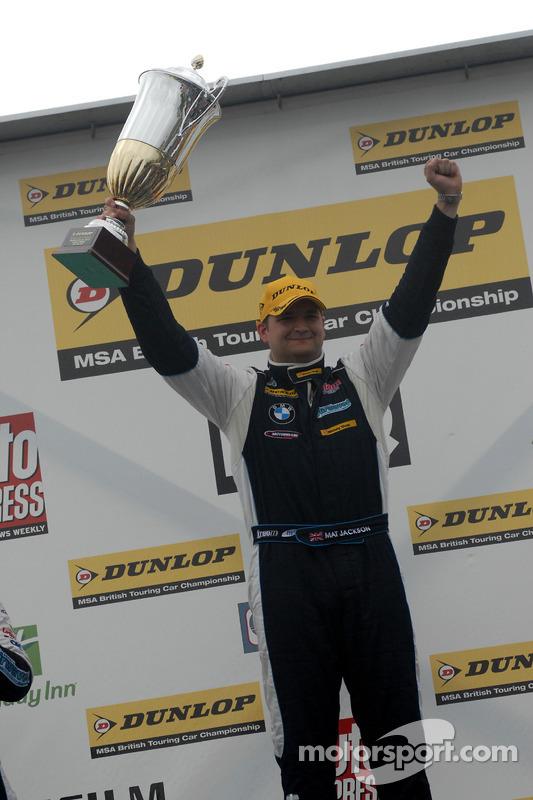 Race winnaar Mat Jackson