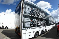 Jack Daniel's Racing transporter