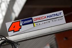 Team Oreca Matmut pit sign