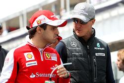 Felipe Massa, Scuderia Ferrari, Michael Schumacher, Mercedes GP Petronas