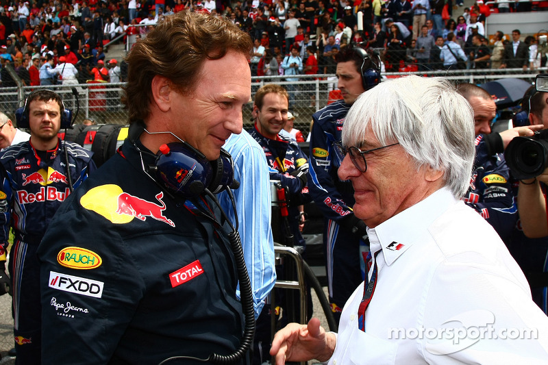 Christian Horner, Red Bull Racing, Sporting Director met Bernie Ecclestone